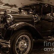 Classic Ford - Sepia Art Print