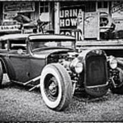 Classic Hot Rod In Black And White Art Print