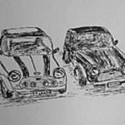 Classic Minis Art Print