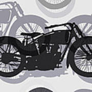 Classic Motorcycle  Art Print by Daniel Hagerman