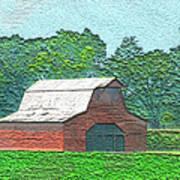 Classic Red Barn Art Print