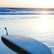 Classic Single-fin Long Board Surfboard Art Print