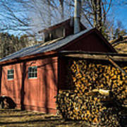 Classic Vermont Maple Sugar Shack Art Print