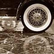 Classic Wheels Sepia Art Print