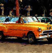 Classic Yellow Havana Art Print by Fran Hogan