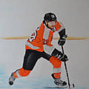 Claude Giroux Philadelphia Flyer Art Print