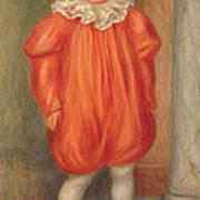 Claude Renoir In A Clown Costume Art Print