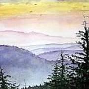 Clear Mountain Morning II Art Print