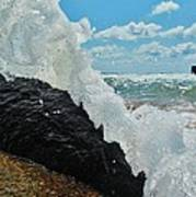 Clear Water Splash Buxton Jetty 1 6/06 Art Print