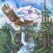 Cleared For Landing Mount Baker Art Print