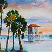 Sunset At Clearwater Beach Art Print