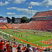 Clemson Tiger Band Memorial Stadium Art Print