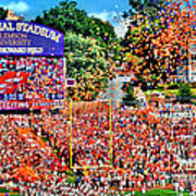 Clemson Tigers Memorial Stadium II Art Print
