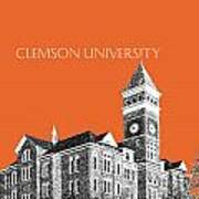 Clemson University - Coral Art Print
