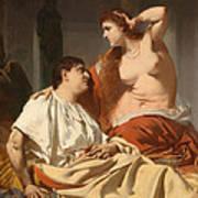 Cleopatra And Antony Art Print