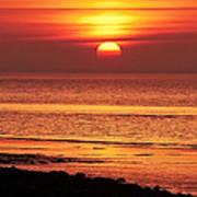 Clevedon Sunset Art Print