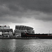 Cleveland Browns Stadium From The Inner Harbor Art Print