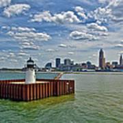 Cleveland Harbor  Art Print