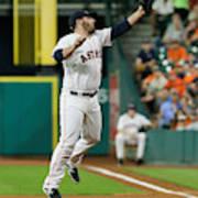 Cleveland Indians v Houston Astros Art Print