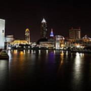 Cleveland Lakefront Nightscape Art Print