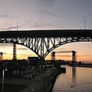 Cleveland Ohio Flats At Sunset Art Print
