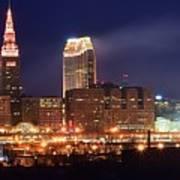 Cleveland Panoramic Night Art Print