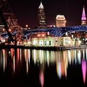 Cleveland Panoramic Reflection Art Print