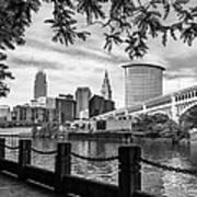 Cleveland River Cityscape Art Print