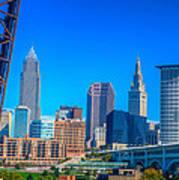 Cleveland Skyline Daytime Art Print