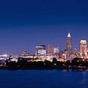 Cleveland Skyline Dusk Art Print