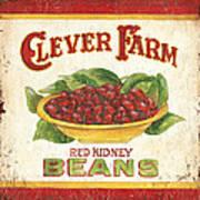 Clever Farms Beans Art Print