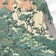 Cliff Above Will Rogers Beach Art Print