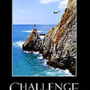 Cliff Divers Of Acapulco Art Print