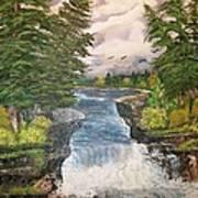 Cliff Falls Art Print