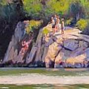 Cliff Jumping Art Print