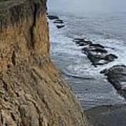 D3a6138-cliffs At Bolinas  Art Print