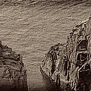Cliffs At Bonavista Art Print