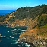 Cliffs At Cape Foulweather Art Print by Adam Jewell