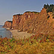 Cliffs Of Cape D'or From A Promontory Over Advocate Bay-ns Art Print