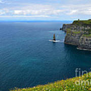 Cliffs Of Moher Looking North Art Print