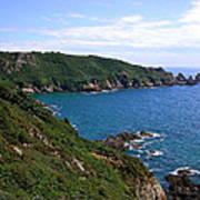 Cliffs On Isle Of Guernsey Art Print