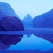 Cliffs On The Coast At Dawn, Meyers Art Print