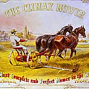 Climax Mower Art Print