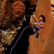 Climber, Red Rocks, Nv Art Print