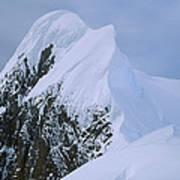 Climbers On Summit Ridge Of Mt Scott Art Print