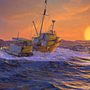 Climbing The Sea Art Print
