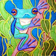 Climbing Tree Frog Art Print