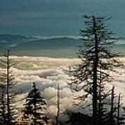 Clingman's Dome Sea Of Clouds - Smoky Mountains Art Print