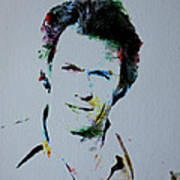 Clint Eastwood 2 Art Print