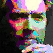 Clint Eastwood - Abstract Art Print